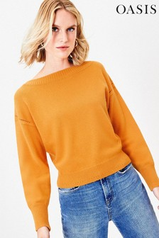 Oasis Yellow Christy Knit Jumper