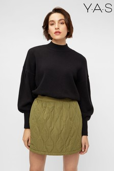 Y.A.S Black Supersoft Puff Sleeve Jumper