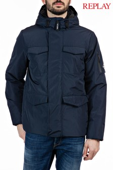 Replay® Blue Winter Coat