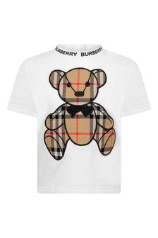 White Cotton Teddy T-Shirt