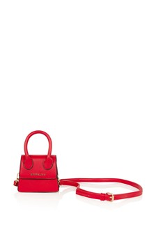 Girls Red Faux Leather Bag