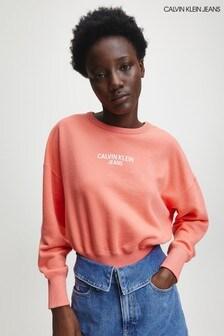 Calvin Klein Pink Back Logo Sweatshirt