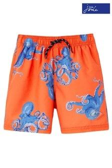 Joules Orange Ocean Swim Shorts
