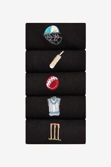 Mens Embroidered Socks 5 Pack
