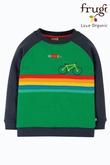Frugi GOTS Organic Brushback Raglan Bike Sweatshirt