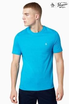 Original Penguin® Blue Short Sleeve Pin Point Embroidered Logo T-Shirt