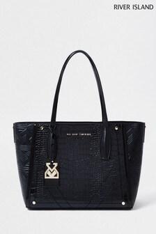 River Island Black Shopper Bag