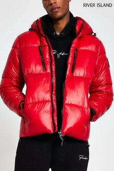 River Island Red Core Padded Coat
