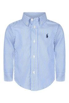Cruise Baby Boys Blue Striped Shirt
