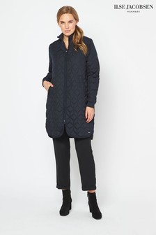 Ilse Jacobsen Hornbk Blue Padded Quilt Coat