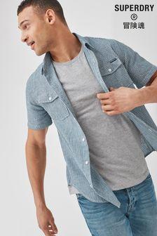 Superdry Short Sleeve Denim Loom Shirt