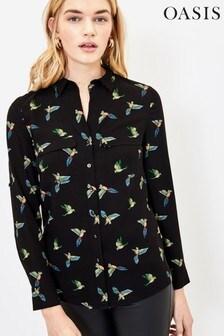 Oasis Black Tajo Bird Shirt
