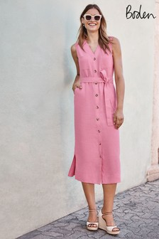 Boden Pink Catriona Linen Dress