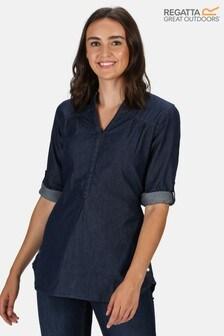 Regatta Blue Maelie Long Sleeve Shirt
