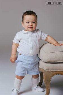 Trotters London Blue Rupert T-Shirt And Shorts Set