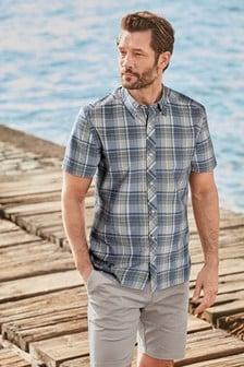Short Sleeve Madras Check Shirt