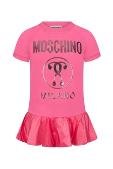 Moschino Kids Girls Pink Cotton Dress