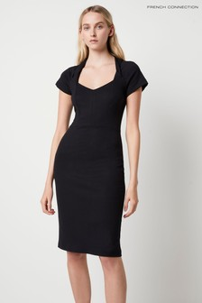 French Connection Black Penina Beau Jersey Bodycon Dress