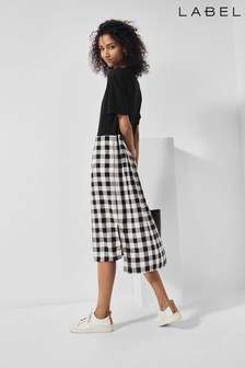 Next/Mix Gingham T-Shirt Dress