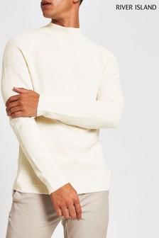 River Island Ecru Turtle Neck Jumper