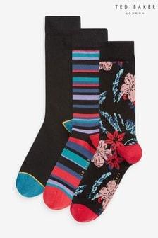 Ted Baker Natural Onpak Socks Three Pack