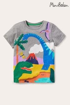 Boden Grey Tropical Scene T-Shirt