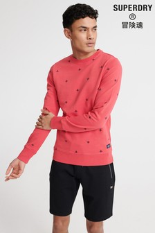 Superdry All Over Embroidery Crew Sweatshirt