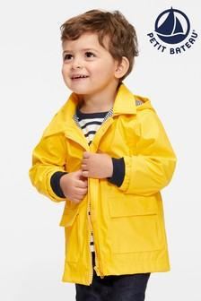 Petit Bateau Yellow Iconic Waxed Babies Raincoat