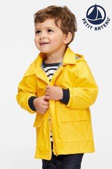 Petit Bateau Yellow Iconic Waxed Babies Raincoat