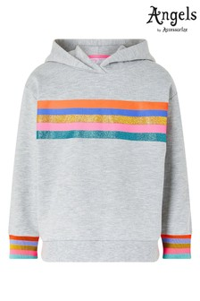 Angels by Accessorize Grey Rainbow Stripe Hoody