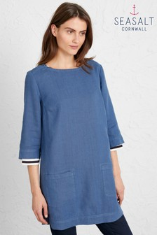 Seasalt Blue Oceanfront Tunic