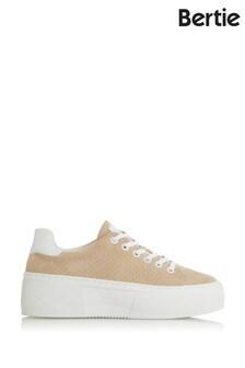Bertie Electaa Almond Suede Platform Sole Sport Sneakers