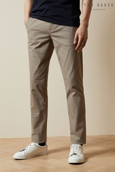 Ted Baker Safe Slim Fit Semi Plain Trousers
