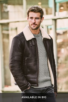 Faux Shearling Flight Jacket