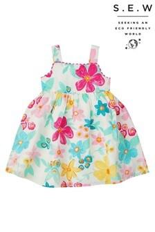 Monsoon Ivory S.E.W. Baby Tanna Linen Mix Dress