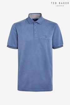 Ted Baker Blue Earbus Short Sleeved Poloshirt