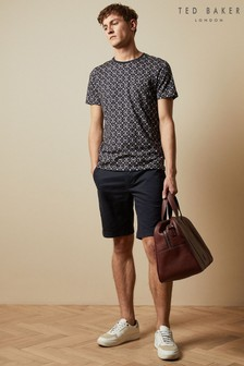 Ted Baker Blue Buenose Cotton Chino Shorts