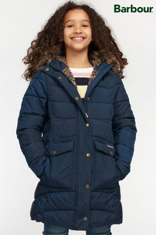 Barbour® Girls Navy Beresford Quilted Jacket