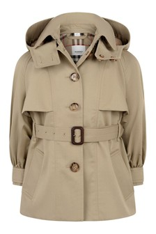 Girls Cotton Trench Coat
