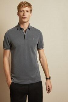 Ted Baker Grey Earbus Short Sleeved Poloshirt