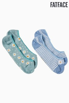 FatFace Green Daisy Footsies Two Pack
