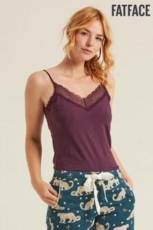 FatFace Purple V-Neck Lace Vest