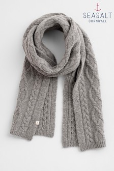 Seasalt Grey Out To Sea Scarf