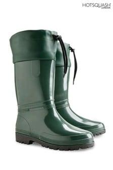 HotSquash Women's Green Wellington Boots