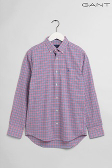 GANT Purple Broadcloth 3 Colour Regular Shirt