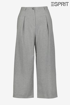 Esprit Grey Flared Cropped Culottes