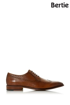 Bertie Starlings Tan Leather Chisel American Brogues