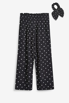 Culotte Trousers With Hair Tie (3-16yrs)