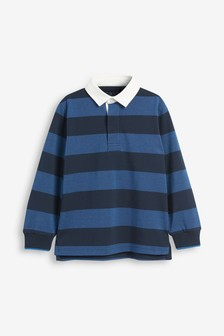Block Stripe Rugby Shirt (3-16yrs)