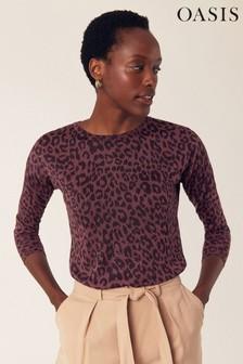 Oasis Purple Lola Animal Jumper